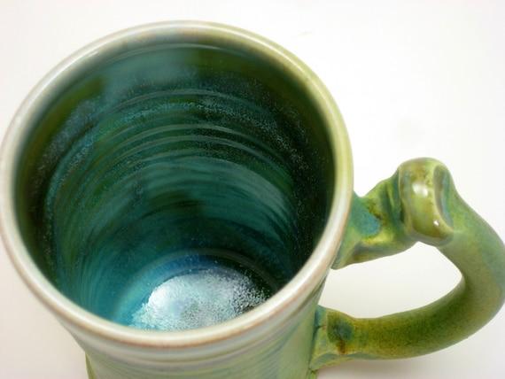 Mug with Tarnished Copper Glaze 14oz