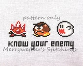 Super Mario World - Know Your Enemy - Cross Stitch PATTERN