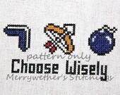 Legend of Zelda - Choose Wisely Cross Stitch PATTERN