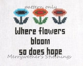 Super Mario Bros- Where Flowers Bloom - Cross Stitch PATTERN