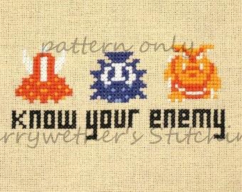 Legend of Zelda - NES - Know Your Enemy - Cross Stitch PATTERN