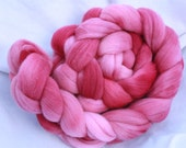 Hand Dyed Merino Wool Roving Combed Top Spinning Fiber  -  6.3oz - Dolores