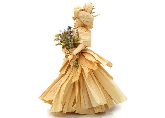 Rustic Doll 'Melony' Corn Husk