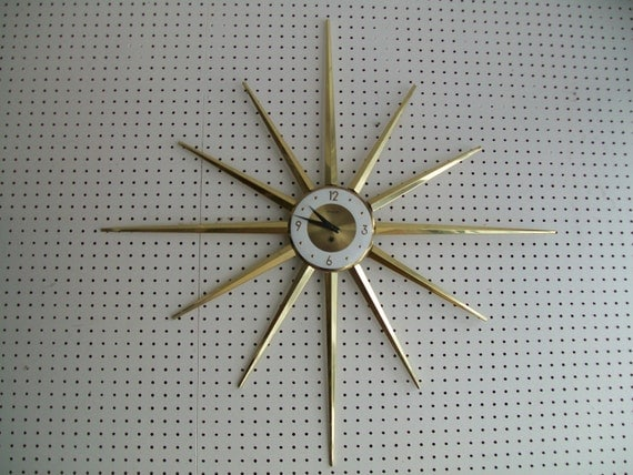 Star Burst Wind Up Wall Clock made in Germany