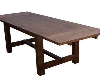 New England Farm Table in Reclaimed Wood with Extensions