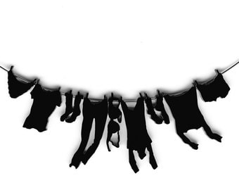 necklace - laundry hanging on clothesline
