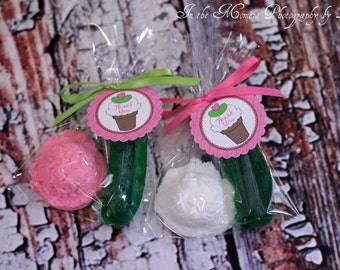 20 PICKLES and ICE CREAM Soaps {10 Favors} -  Great for a Craving Themed Baby Shower, Pickle Soap, Ice Cream Scoop Soap
