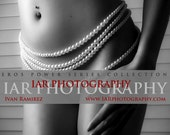 "P307 - Hips and Pearls  -  Fine Art  Mature Nude Photo Print - 8""x12"""