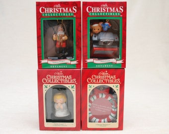 Christmas Tree Ornaments - Photo Frames & Characters - Group of 4