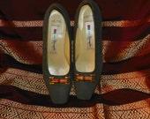Miss Slender Kane Matsu Linen pattern Leather Pumps