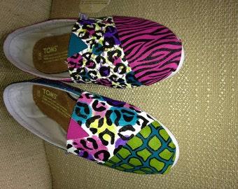 Custom TOMS- Animal Print -Zebra, Cheetah, Leopard