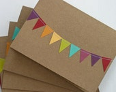 RESERVED 15 Bunting Flag Thank You Cards