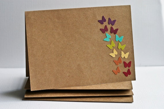 Butterfly Stationery Set in Rainbow Colors