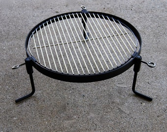 Compact portable BBQ, bug out grill, camping & cooking for all solid fuels, removable legs, emergency preparedness