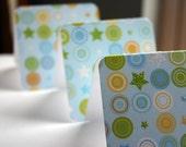 baby blue dot pattern mini card set of 10