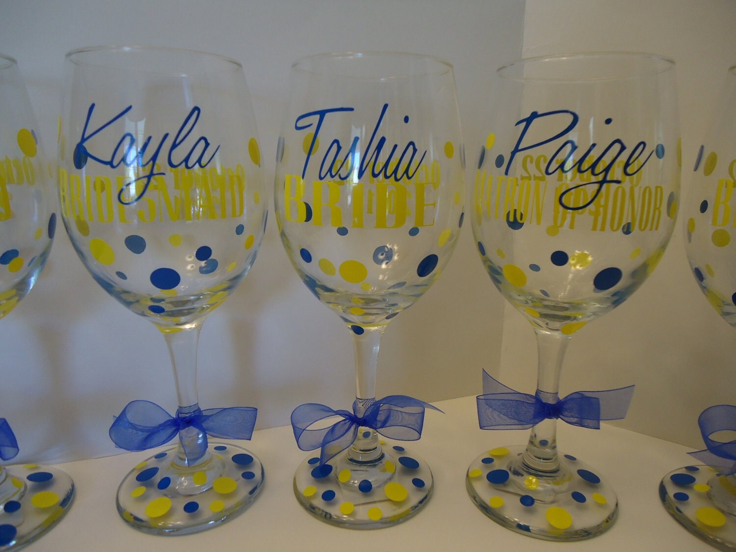 Personalized Vinyl Decals For Wine Glasses