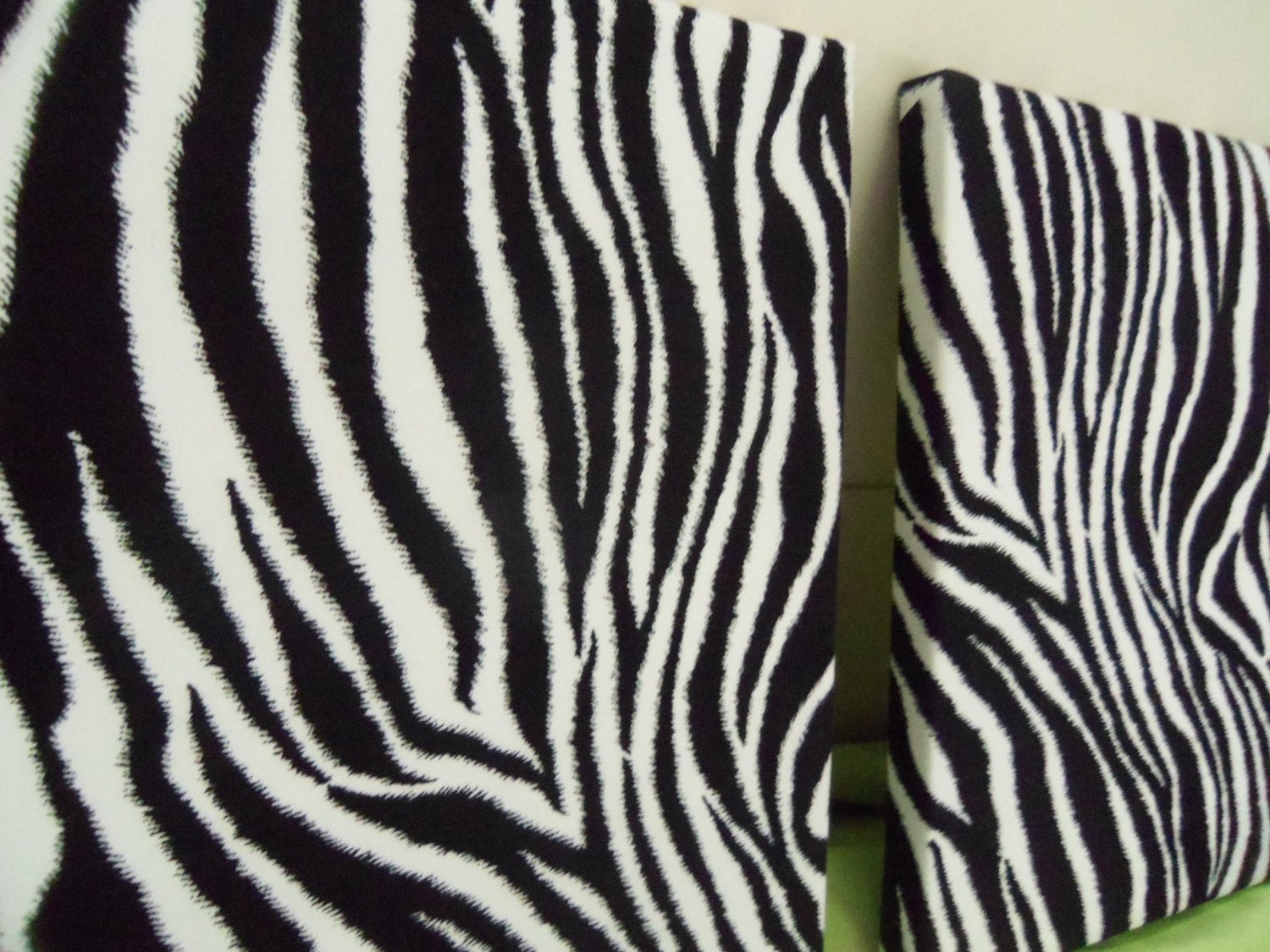 Zebra Stripes Wall Decor : Zebra striped fabric wall decor set by anyhuedesignsbypam
