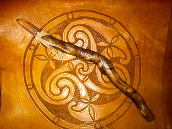 Celtic Spiral Wand