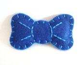 Bow Felt Brooch Blue Bow Felt Pin Accessory