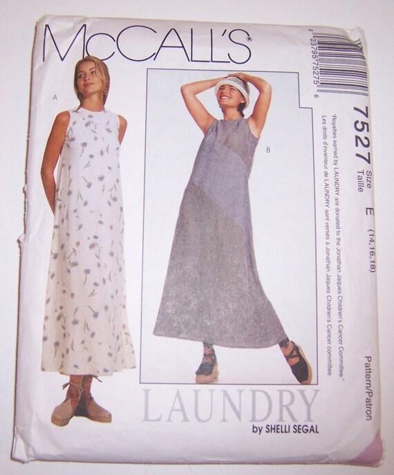 McCalls 1995 Uncut Misses Dress By Shelli Segal Pattern Number 7527 Sizes 14 16 18