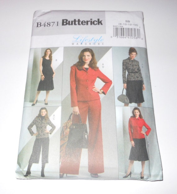 Butterick Misses Jacket, Dress And Pants Lifestyle Wardrobe Year 2006 UNCUT Sizes 8 10 12 14 Pattern Number 4871