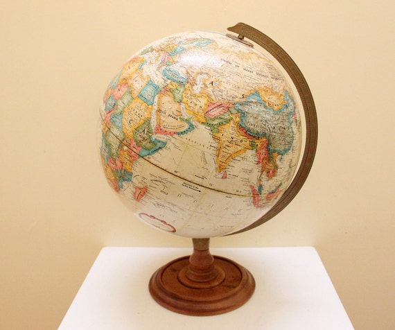 Vintage Replogle World Nation Series Globe 12 inch