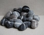 Felted Rock and Stones
