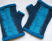 Nuno Felted Fingerless Gloves