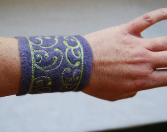 Purple Felted Cuff