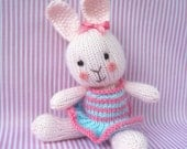 Candytuft - toy bunny rabbit doll knitting pattern - INSTANT DOWNLOAD