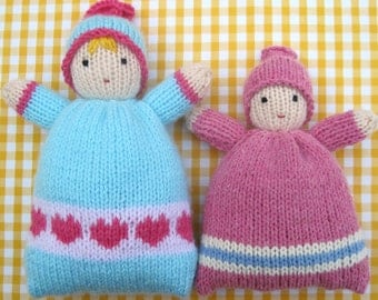 Little Sweethearts - Baby Bunting toy doll in 2 sizes - knitting pattern - PDF INSTANT DOWNLOAD