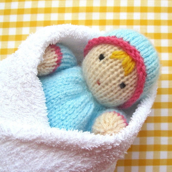 Little Sweethearts knitted Baby Bunting Toy Doll in 2 by ...