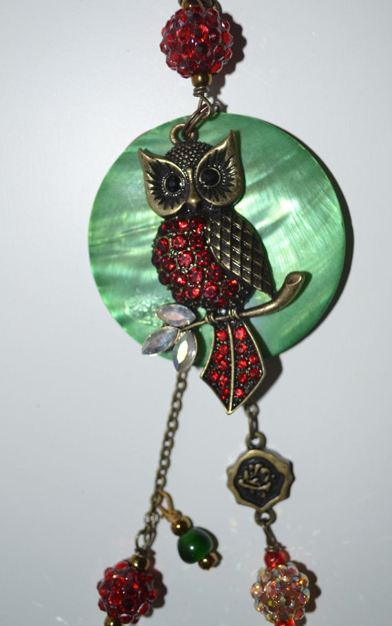 Christmas OWL Beaded Ornament