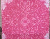 Pink Ribbon Mandala Twin Flat Sheet Tapestry  no2