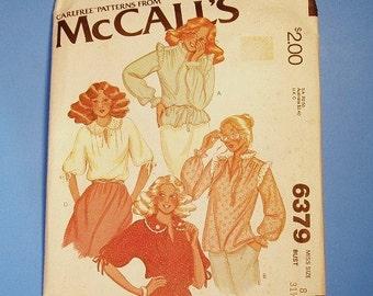Vintage Pattern Prairie Boho Victorian Blouse McCall's
