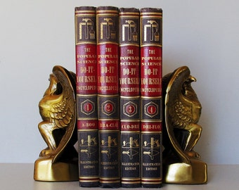 Popular Science Do It Yourself  Retro Graphic Encyclopedia Volumes 1- 4 Not a Complete Set