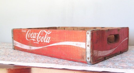Coke Coca Cola Bottle Crate Box 24 Bottle Carrier Shadowbox