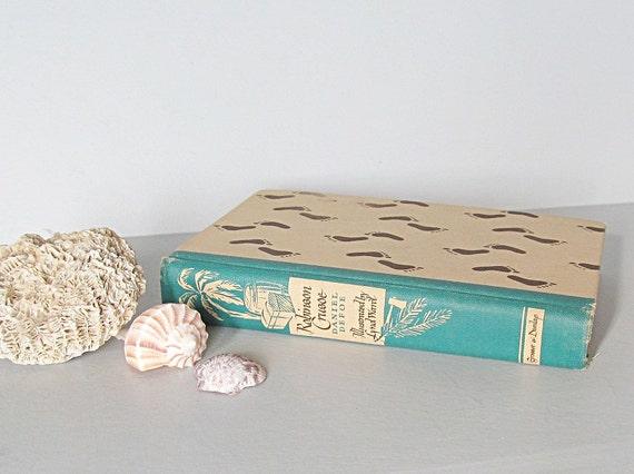 Reserved  - Pending - Vintage Book Robinson Crusoe