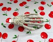 Halloween Skeleton Hand Hair Clip Spooky Creepy Gothic