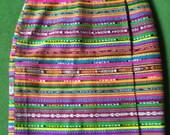 Ethnic striped color Block skirt