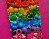 Rainbow Brights Decoden iPhone 4 Case