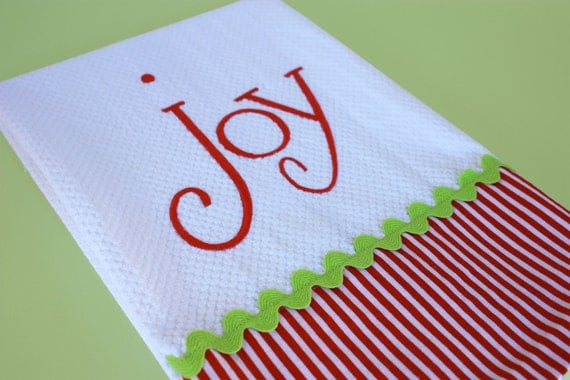 Items Similar To Joy Christmas Kitchen Towel On Etsy