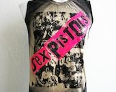 Sex Pistols punk rock Black Men Tank Top T-Shirt Size M