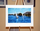 Smith Mountain Lake Fall Regatta - Giclee