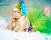 Little Mermaid Ariel Couture Crochet Tutu Dress-Two piece set-Headband NOT included