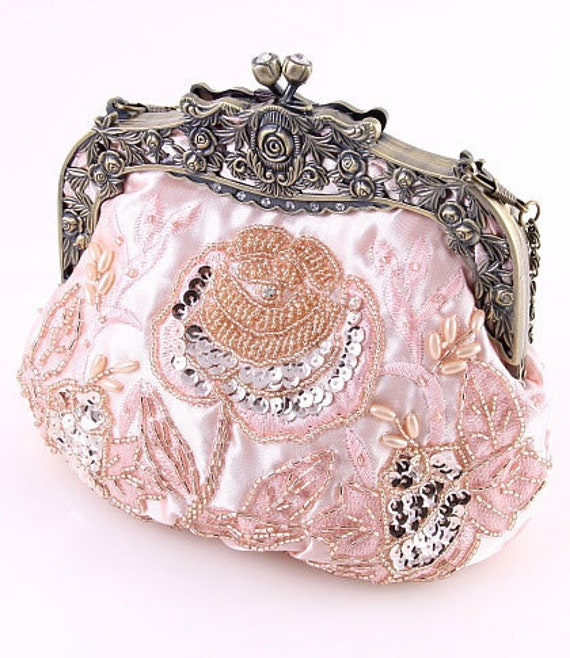 The Vintage Style Bead & Sequin Evening Bag