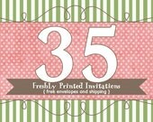 35 Printed Invitations (professional printing of  5x7 invitations or announcements)