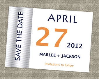 Modern Save the date, calendar date, printable, digital file