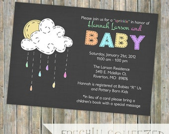 baby sprinkle invitation, sprinkle shower, gender neutral, digital, printable file