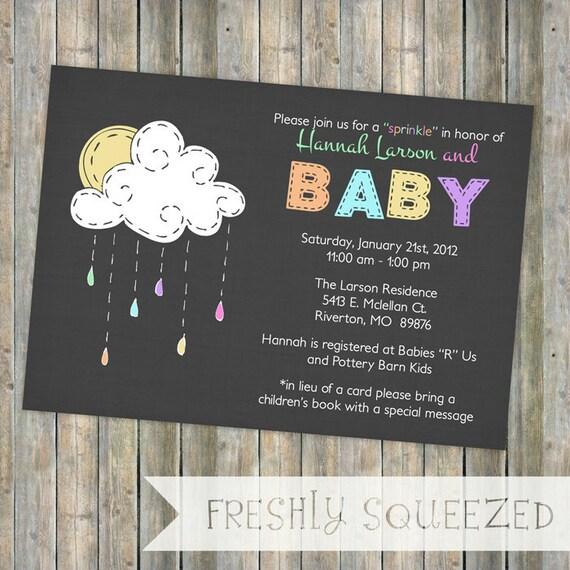 baby sprinkle invitation, sprinkle shower, gender neutral, digital, printable file